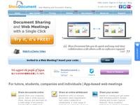 Showdocument. Reunions en ligne et partage de documents.