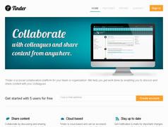 Tinder. Outil collaboratif de partage de documents.