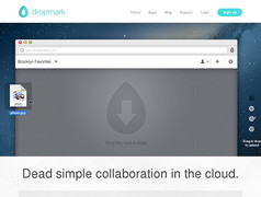 Dropmark. Espace de sauvegarde en ligne collaboratif.