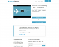 StormBoard. Outil de brainstorming collaboratif.