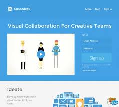 SpaceDeck. Outil de travail collaboratif pour les creatifs
