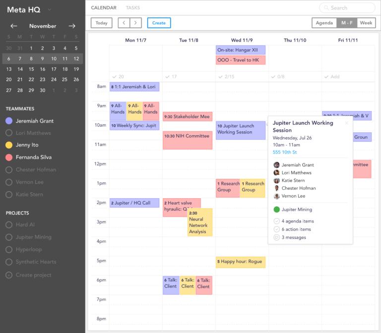 sunsama calendrier