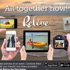 Relive. Creer un album photo collaboratif.