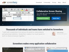 ScreenHero. Travail collaboratif sur ecran partage